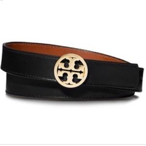 Tory Burch Black and Brown Reversible Belt